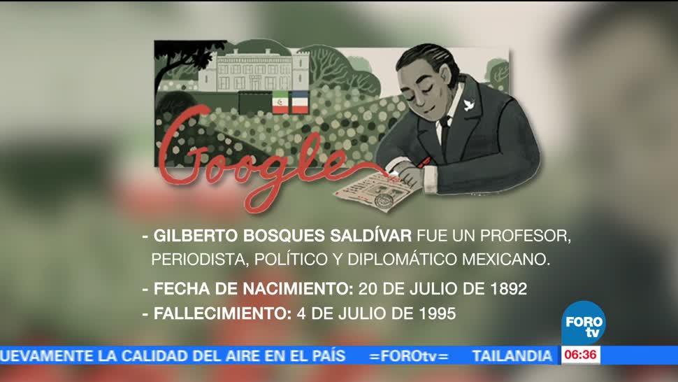 Google, rinde homenaje, Gilberto Bosques