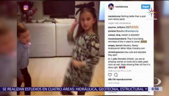 Nietos, Trump bailan, Despacito, Ivanka Trump