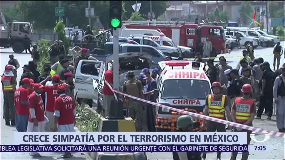 Crece la simpatía, terroristas, México