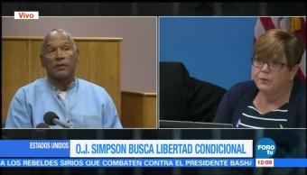 OJ Simpson comparece, comisión de Nevada, Estados Unidos, libertad condicional, robo, secuestro