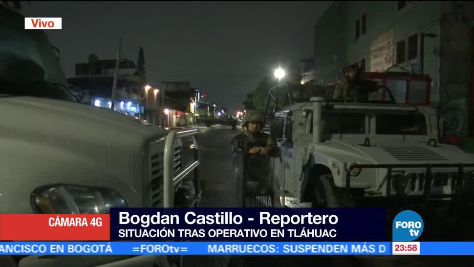noticias, televisa, Marina, cerco de seguridad, calle Guillermo Prieto, Tláhuac