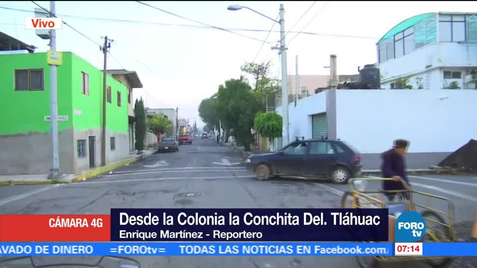 noticias, televisa, Calles de la colonia la Conchita, en Tláhuac, lucen vacías