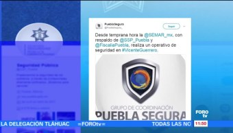 noticias, forotv, Realizan, operativo de seguridad, municipio, Puebla