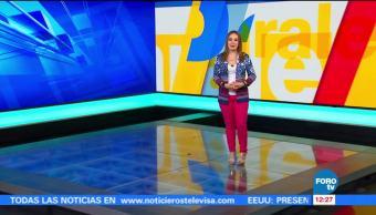 noticias, forotv, Tiempo a tiempo, Raquel Méndez, Tiempo, Clima