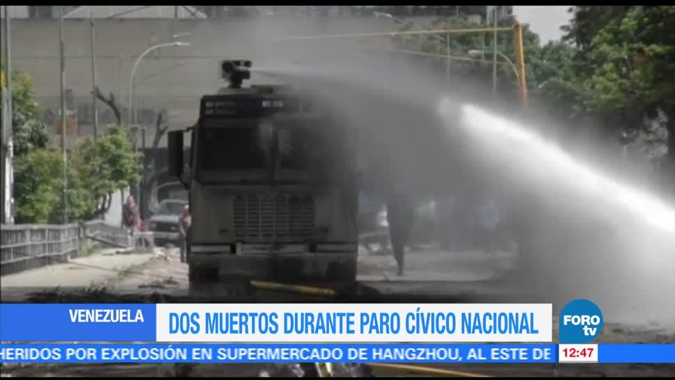 noticias, forotv, Fiscalía de Venezuela, confirma muerte, dos personas, paro cívico