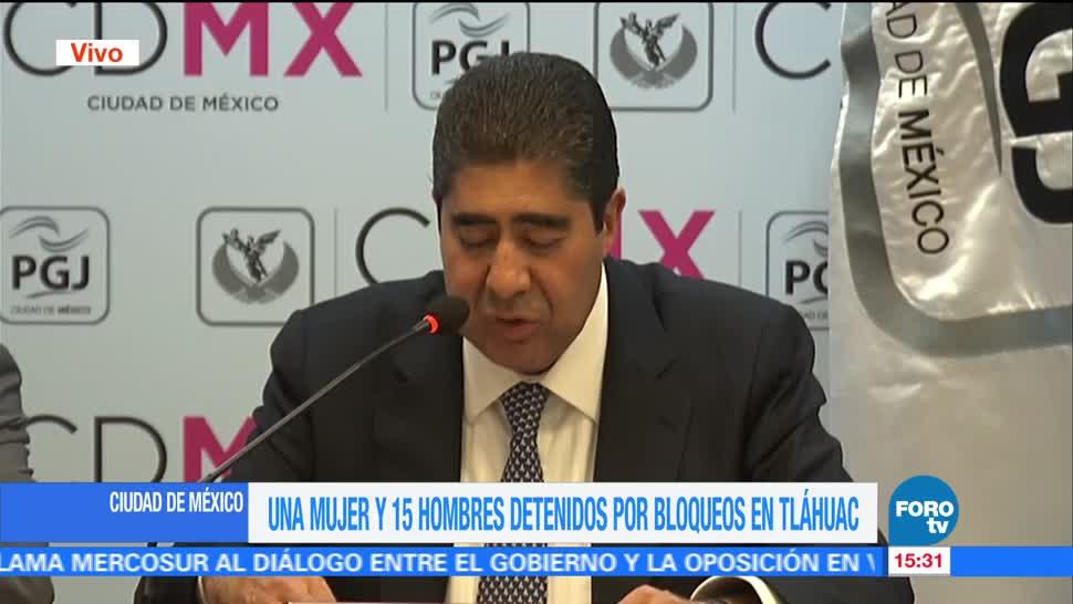 Procurador De La CDMX, Edmundo Garrido, Detenidos, Operativo De Tlahuac