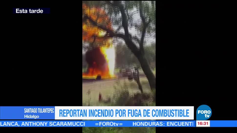 Incendio, Fuga De Combustible, Hidalgo, Cuerpos De Emergencia,