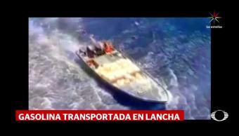 Captan Helicóptero Lancha huachicol Puerto Vallarta Secretaría Marina Bidones Gasolina