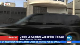 Continua Operativo, Tláhuac, Autoridades Capitalinas, La Conchita Zapotitlan