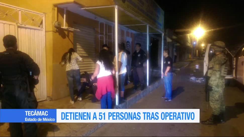Detienen Personas Tecámac Operativo Fuerzas federales Estado México