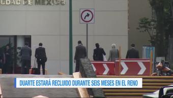 Javier Duarte, Estara Recluido, Seis Meses, Reclusorio Norte