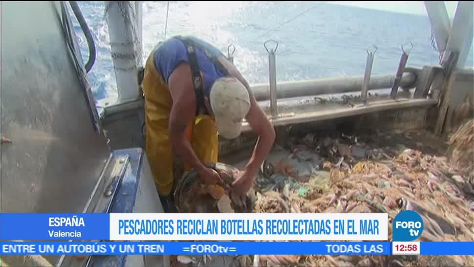 Pescadores españoles, crean ropa, botellas, plástico