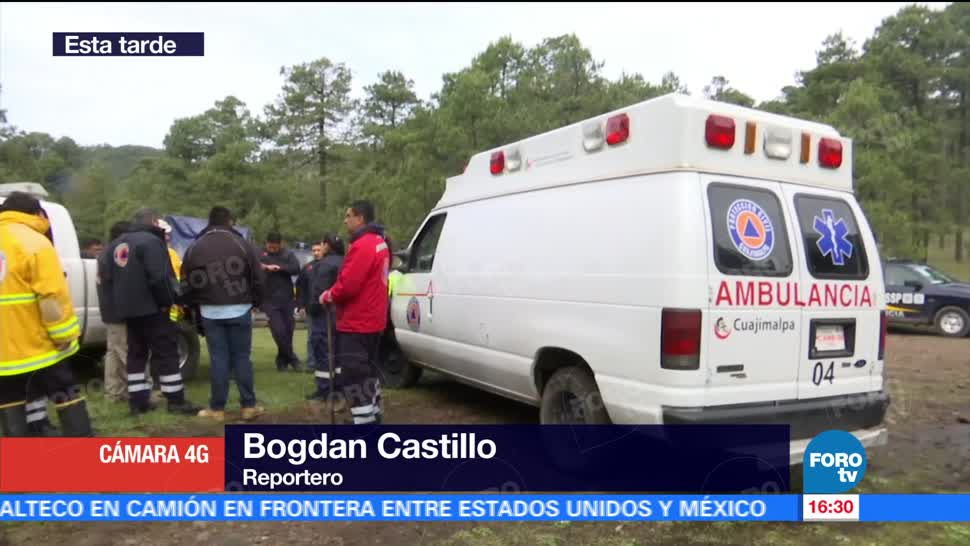 Rescatan Familia Extraviada Cuajimalpa Bosque Cuatro Integrantes