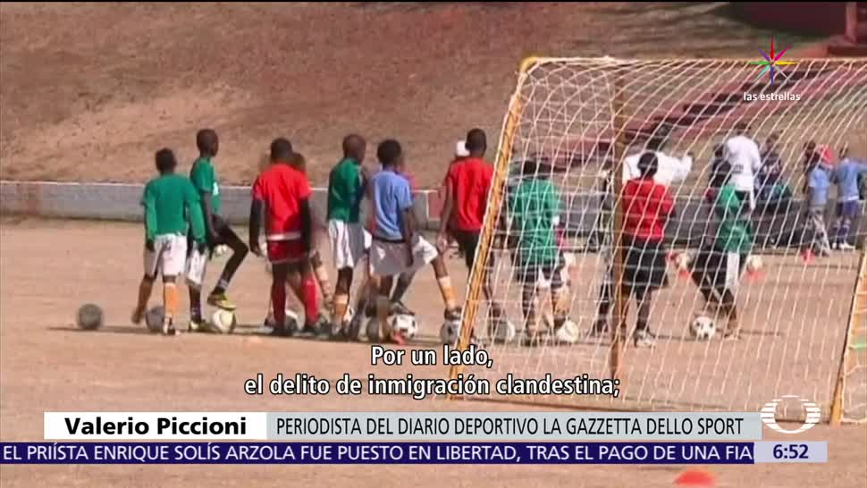 Éxodo, migrantes, equipos italianos, futbol