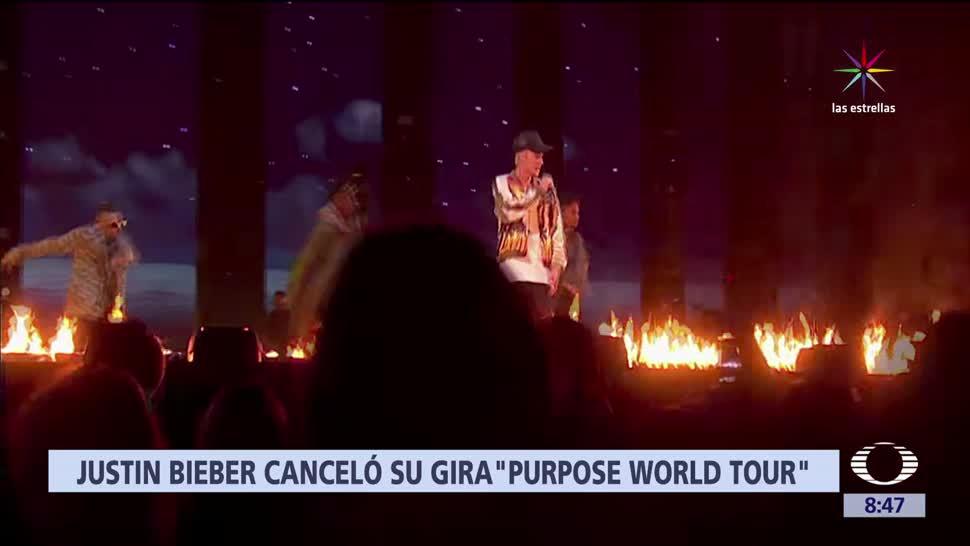 Justin Bieber Cancela Conciertos Purpose World Tour