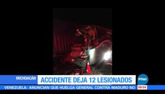 Accidente, deja, lesionados, Michoacán