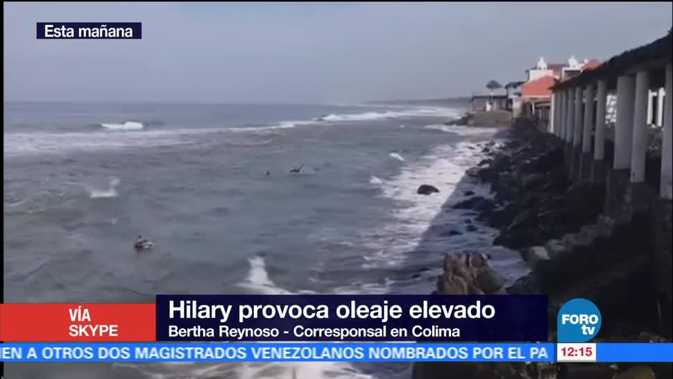 Huracán Hilary, desata, olas, Colima