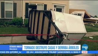 Tornado, destruye, casas, Maryland