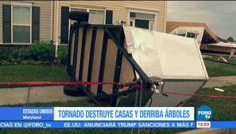 Tornado, destruye, casas, Maryland