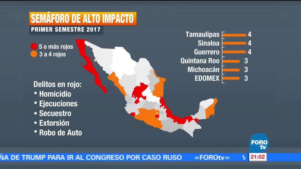 Mapa Delictivo Mexico Semaforo Noticias Televisa