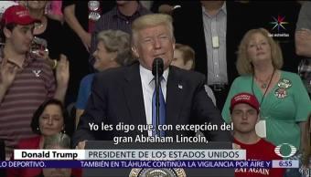 Trump, mejor presidente, historia, EU