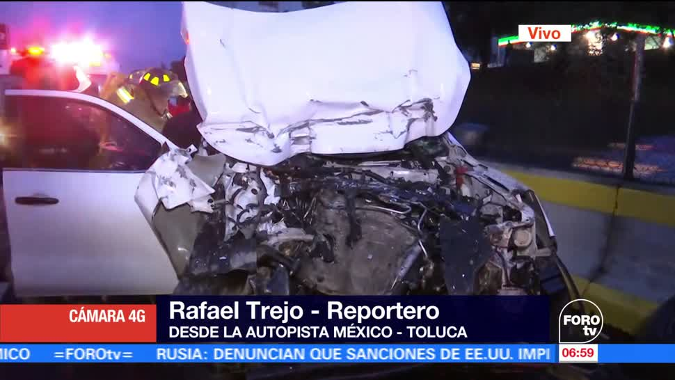 Camioneta, choca, autopista, México-Toluca