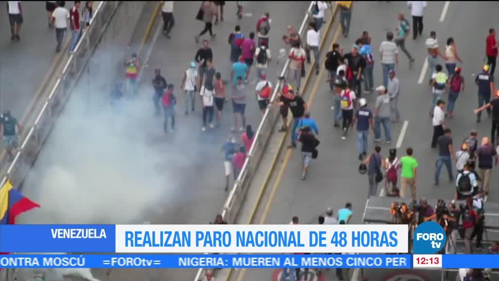 Oposición Venezolana Inicia Huelga