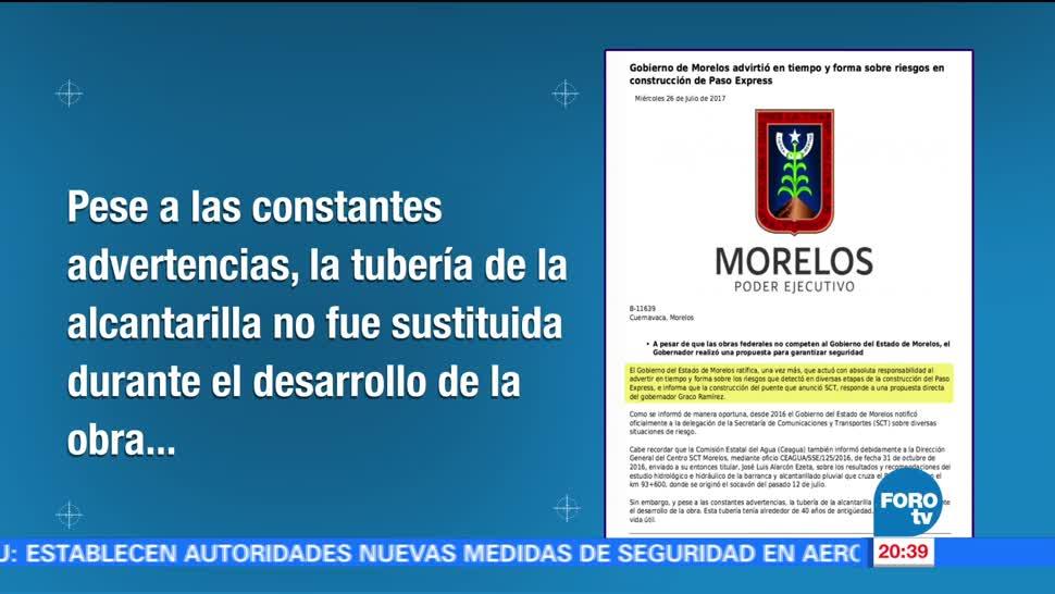 Gobierno Morelos Advirtió Paso Express Socavón