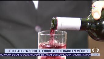 Estados Unidos Alerta Ciudadanos Alcohol adulterado