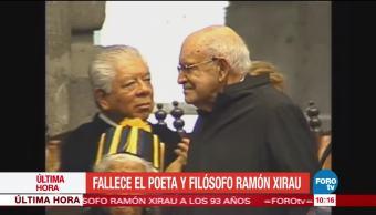 Fallece, poeta, español, Ramón Xirau