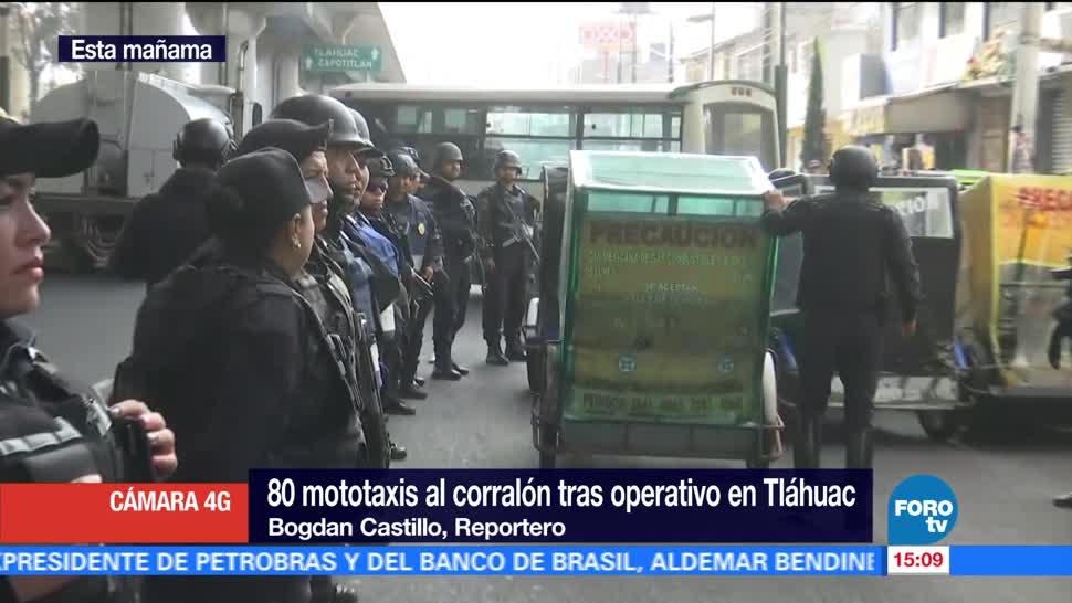Paula Ordorica Aseguran Mototaxis Tlahuac Operativo