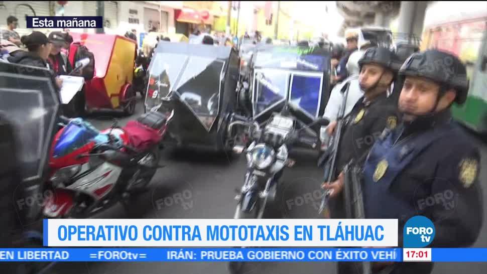 Televisa News Operativos Mototaxis Tlahuac Delegacion