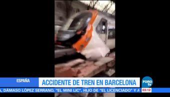 Televisa News Tren Impacta Via Barcelona
