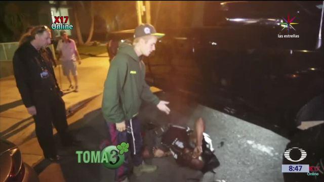 Televisa News Justin Bieber Atropella Paparazzi