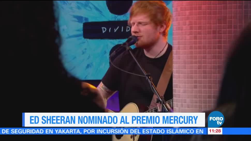 Cantante Ed Sheeran Nominado Premio Mercury