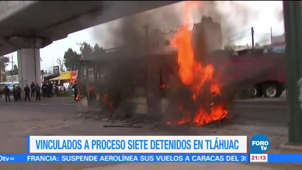 Vinculan a proceso siete detenidos Tláhuac