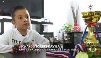 Niño mexicano, genio matemático cinco años