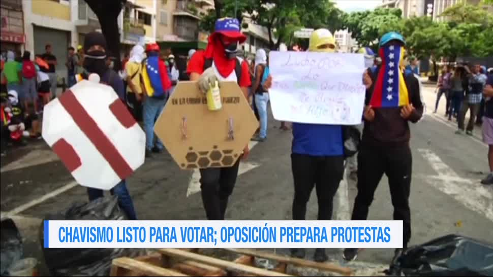 Convocan en Venezuela protesta elección Constituyente