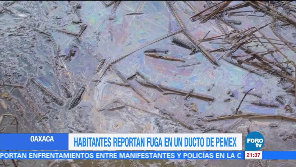 Alertan fuga combustible ducto Pemex Oaxaca