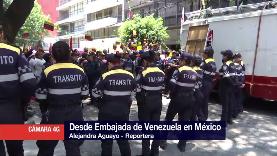 Protestas Frente Embajada Venezuela Mexico