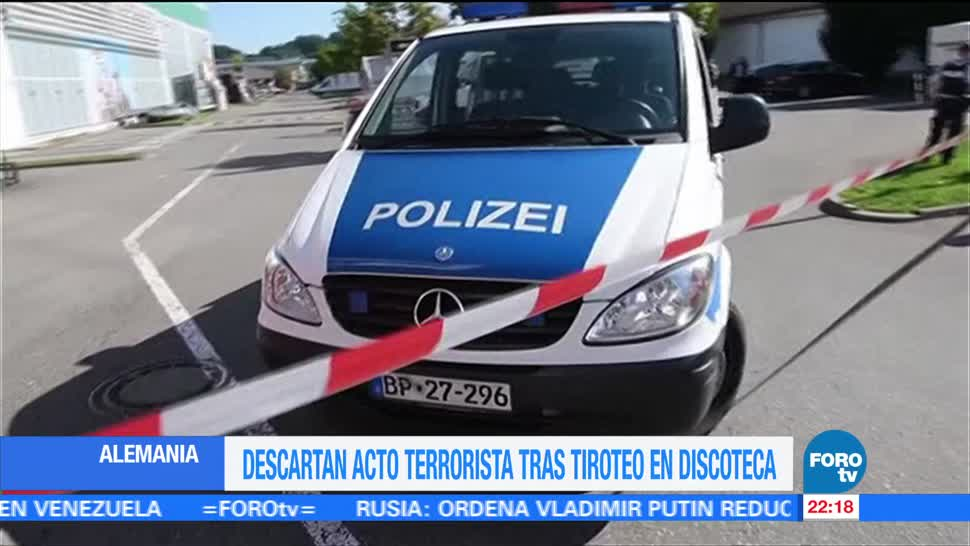 Dos muertos durante tiroteo discoteca Alemania