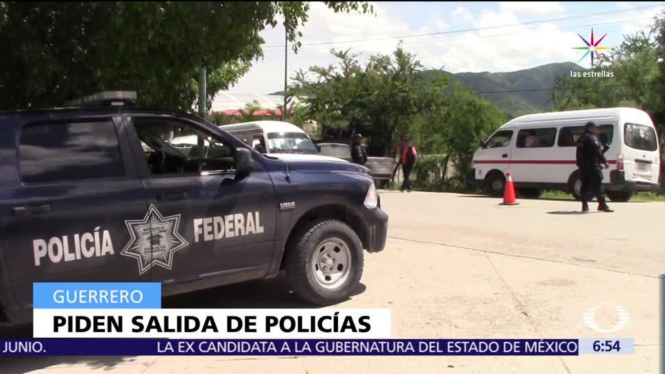 Habitantes, Guerrero, salida, policías federales
