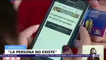 Sistema Electrónico Voto Credencial Nicolás Maduro