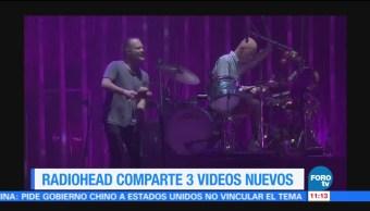 Radiohead, comparte, videos, nuevos