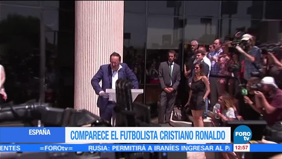 Cristiano Ronaldo Comparece Juez Fraude fiscal