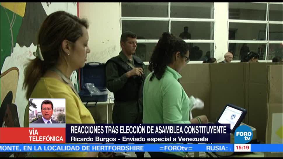 Reaccione Eleccion Constituyente Venezuela Oposicion Venezolana