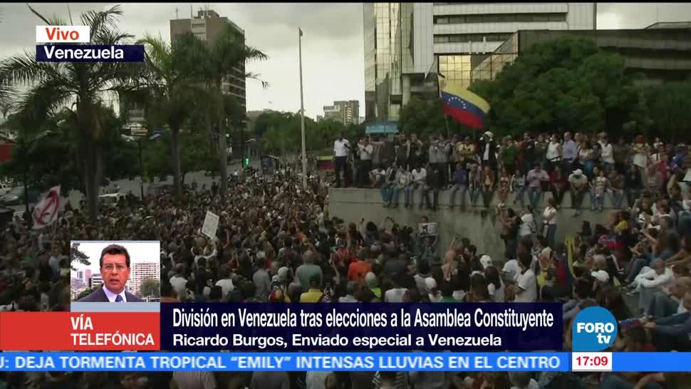 Opositores Alistan Protestas Resultados Constituyente Ricardo Burgos