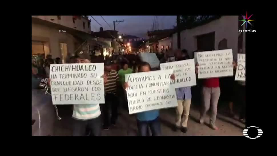 Habitantes Exigen Salida PF Chichihualco Guerrero