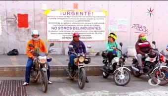 Mototaxistas Tláhuac Cambian Servicio Unicamente motocicleta