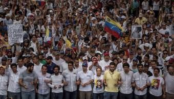 Henrique Capriles, Leopoldo López, Lilian Tintory, Juan Requesens, Caracas